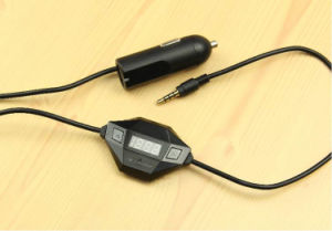 LCD Screen 3.5mm de FM Transmitter van Audio Plug USB Car Charger Wireless