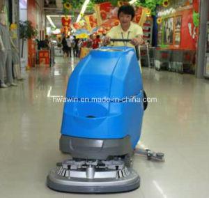 Pousser la main d'épurateur de plancher de la machine avec système d'entraînement automatique