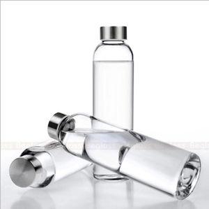 550ml携帯用飲むガラスの水差しの天然水のびん(DC-QDG-2-550)