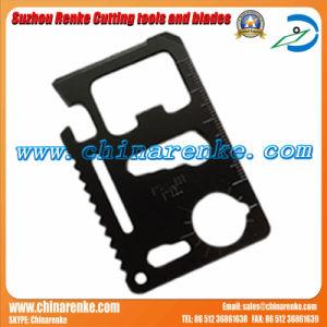 Multifunción de acero inoxidable de la tarjeta de la herramienta Cuchilla con 11 funciones