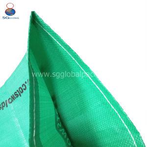 Kundenspezifischer grüner pp. gesponnener Beutel für Startwerte für Zufallsgenerator der Verpackungs-50kg