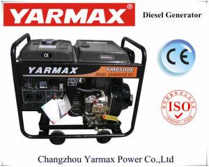Lucht van Yarmax koelde de Enige Diesel van het Frame van de Dieselmotor van de Cilinder Open Reeks van de Generator Genset Ym6500e 4.5kVA 5.2kVA