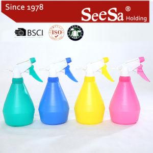 500ml de PE de plástico frasco pulverizador/ Pressão Manual Acionar Pulverizador (SX-2056-2)