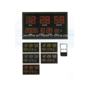 Control remoto eléctrico digital LED grande Reloj Calendario de pared decorativos