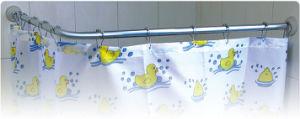 L tenda Rod di alluminio dell'acquazzone di figura