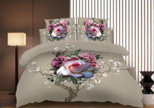 Gedruckte aufgetragene 1800 Gewinde-Zählimpuls-Polyester Microfiber 3D Bettwäsche-Bettwäsche