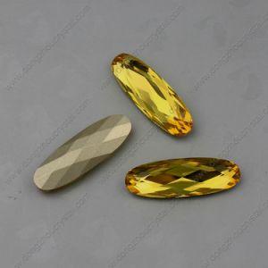 De gele Parels van de Juwelen van Stenen Strass