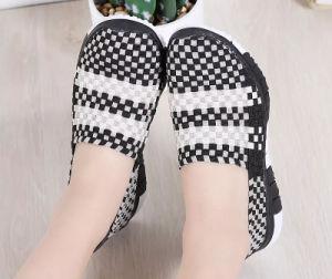 Sur les chaussures de patinage occasionnels Femmes Knitting chaussures sandales tissé (479)