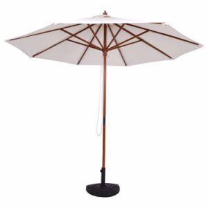 Ombrello registrabile di legno del patio del Palo del giardino della spiaggia della tonalità esterna di Sun