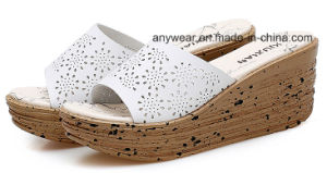 Mode Femmes Pantoufles Chaussures Mesdames Chunky talons sandale (973)