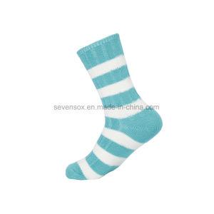 Jacquardwebstuhl-Entwurfs-Baumwolqualitäts-Socken der Frauen