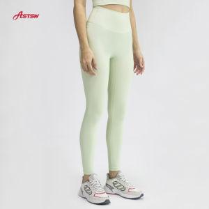 Nouvelle Mode Mesdames Sport porte pantalon taille haute Rib Yoga