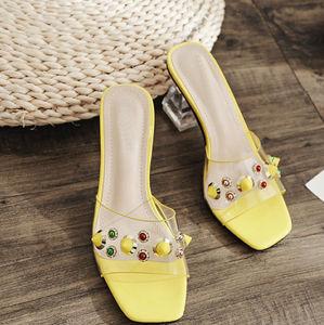 73f20d99 Dama de la Moda Artesanal mulas Lucit PVC / Venta al por mayor zapatos de  tacón Pespex