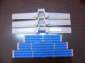 Table en plastique de qualité alimentaire avec galet de chaîne supérieur