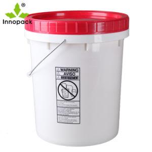 Innopack seau de plastique rond de 5 gallons de peinture/Godet Grit Guard