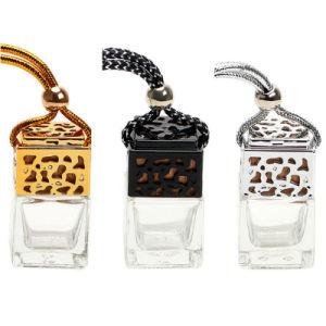 Ambientador de coche vacía la botella de cristal colgantes de cristal de aceites esenciales para la botella de perfume de coche