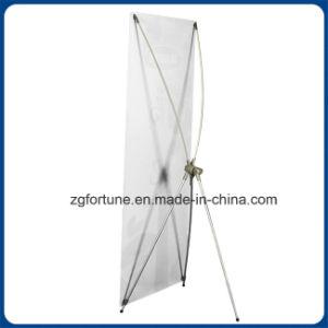 Basamento da tavolino della bandiera della bandiera X del basamento per la pubblicità (palo di alluminio)