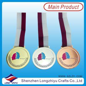 Government (lzy00016)のためのTape Ribbon MedalのガーナGold Silver Bronze Medal Engraved Medal Soft Enamel Medal