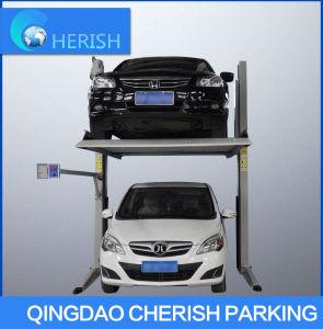 倍2つの層の容易な2つのポストスマートな車の駐車上昇