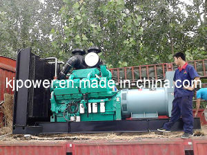 Motor Cummins diesel de 800kw generando con dosel insonorizadas