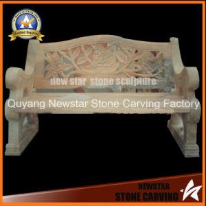 切り分けられた自然な大理石の現代石造りのベンチ
