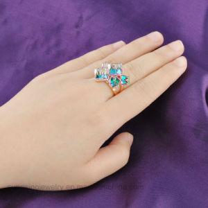 Аксессуары для женщин белого золота большой камень ювелирные изделия кольцо