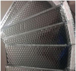 Película de aluminio bolso sobre de burbujas