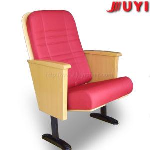 ハンドメイドの木製の家具の金の製造者表のよい価格の講堂の屋内家具製造販売業の木の会議の椅子