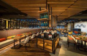 Salle de séjour Appartement moderne en bois Accueil Restaurant Hôtel de la cantine de meubles de salle à manger