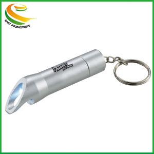 De LEIDENE van het metaal Toorts Keychain van het Flitslicht met Flesopener