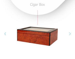 Mode Peinture vernis don Boîte à cigares en bois