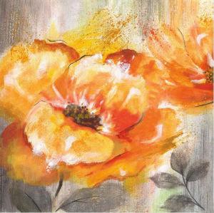Decorazione arancione di fioritura moderna Handmade di natale della pittura a olio del fiore