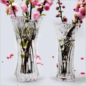 2016 оптовой красивых кристально прозрачного стекла ваза цветов для дома украшения