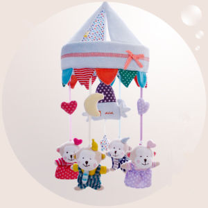 Brinquedo extravagante enchido do luxuoso da música do berço do bebê costume macio móvel