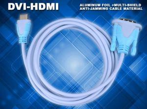 HDTVのパソコンMoitor LCDのためのDVIケーブルへの金張りHDMI