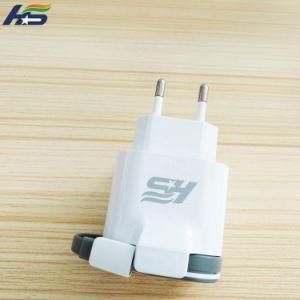 Сверхбыстрая зарядка мобильного телефона зарядное устройство 5 в 2 порт USB 2.1A ЕС Micro зарядное устройство USB стены