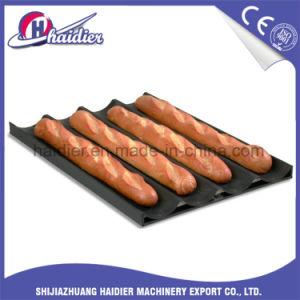 Pannen Baguette van de Dienbladen van het baksel de Franse met Met een laag bedekte Teflon