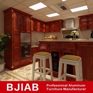 Golden et de Chêne blanc moderne de meubles en métal des armoires de cuisine en aluminium