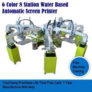 6 stampatrice automatica dello schermo della stazione di colore 8 per le magliette