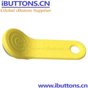 Controle de acesso com chave Ibutton Fob amarelo para portas e ferrolhos