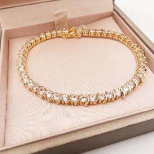 Armband van de Steen van CZ van het Inlegsel van de Juwelen van de manier de Imitatie voor Vrouwen