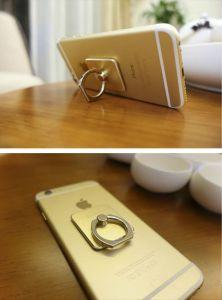 自由なロゴプリント360回転金属の携帯電話のリングのホールダーの立場