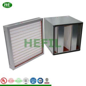 H13 610*610*50mm moldura em alumínio Glassfiber Mini Painel Pleat Mídia do filtro HEPA Filtro Filtro de Ar para limpeza do quarto