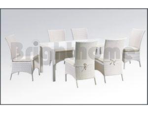屋外のDining Set ChairおよびTable (BG-119)