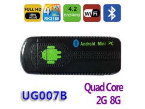 ROM van de Flits van de Kern cpu 1.6GHz 2g RAM+8g van de Vierling van Ugoos Ug007b- Nand - Dongle van TV van de Kern Rk3188 van de Vierling Android4.2 de Slimme, de Stok van TV Andriod