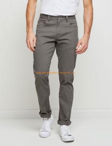 Hommes 98% coton 2% de la fumée Pandex occasionnel pantalon tissé