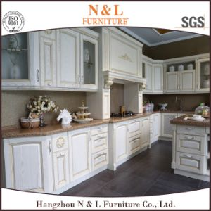 N&L Inicio de color blanco, muebles de cocina de madera muebles ...