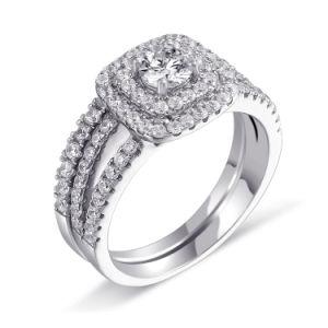 Fashion 925 Steling Bijoux en argent bague de mariage de doigt