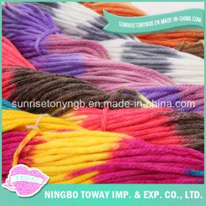 Venta al por mayor en línea de alimentación de la fábrica de textiles de lana de hebras de hilo crochet acrílico