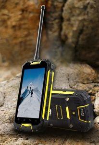 Durock M9 IP68 de mão industrial resistente à prova de choques externos à prova de telefones celulares com GPS 3G telefone Walkie Talkie UHF